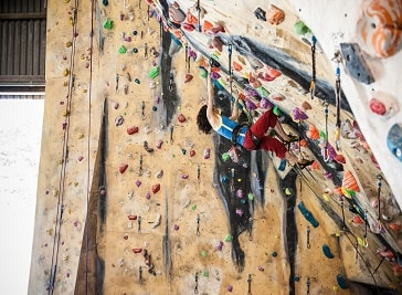 Barn indoor climbing wall